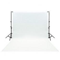 Fond de Studio blanc en coton 3x6m