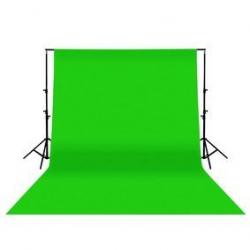 Kit Fond de Studio vert en coton 3x6m + Support