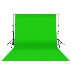 Kit Fond de Studio vert en coton 3x2m + Support