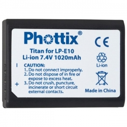 Phottix Batterie Canon LP-E10 compatible 1100D