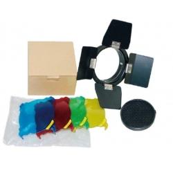 Godox BD-03 Nid d 'abeille - Coupe flux - Filtres de couleur rouge/vert/jaune/bleu