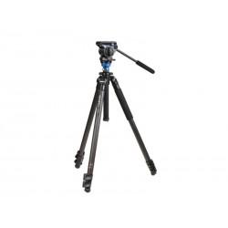 Benro Kit Trépied Video A1573FS2 Clapet - Colonne de mise à niveau + Tête vidéo S2