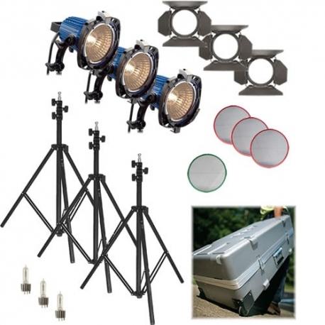 ARRI Arrilite 750 Plus 3 tungsten lighting kit (Valise avec roues) L0.36700.D