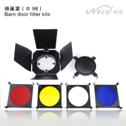 NiceFoto SN01 Barndoor kit 98mm Monture Mini