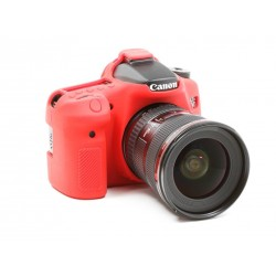 EasyCover Protection Silicone pour Canon 70D Rouge