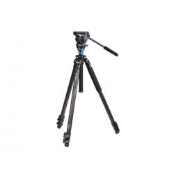 Benro Kit Trépied Video C1573FS2 Clapet - Colonne de mise à niveau + Tête vidéo S2