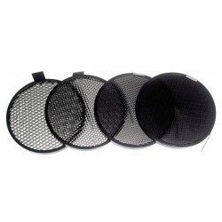 Kit de 4 grilles nid d'abeille 18cm / honeycombs