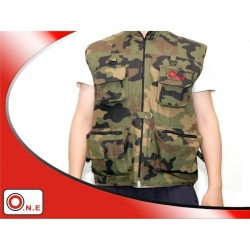 ONE TS-1 Veste photo sans manche taille L Camo