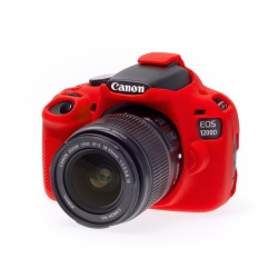 EasyCover Protection Silicone pour Canon 1200D / T5 Rouge