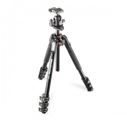 Manfrotto MK190XPRO4BH kit - alu 4-section horiz. column tripod + ball head 496RC2