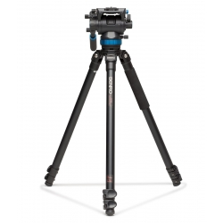 Benro Kit Trépied Video A373FBS8 Clapet - Système de mise à niveau + Tête vidéo S8