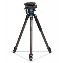 Benro Kit Trépied Video C373FBS8 Clapet - Système de mise à niveau + Tête vidéo S8