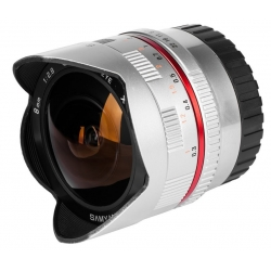 Samyang 8mm Fisheye f/2.8 II Fuji X Silver