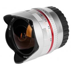 Samyang 8mm Fisheye F2,8 II Canon M Silver