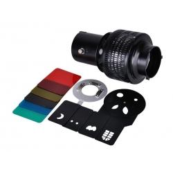 NiceFoto SN-06 Spot optique avec filtres et formes
