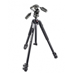Manfrotto MK190X3-3W 190X kit - trepied alu 3 Sections + Rotule 3D 804RC2
